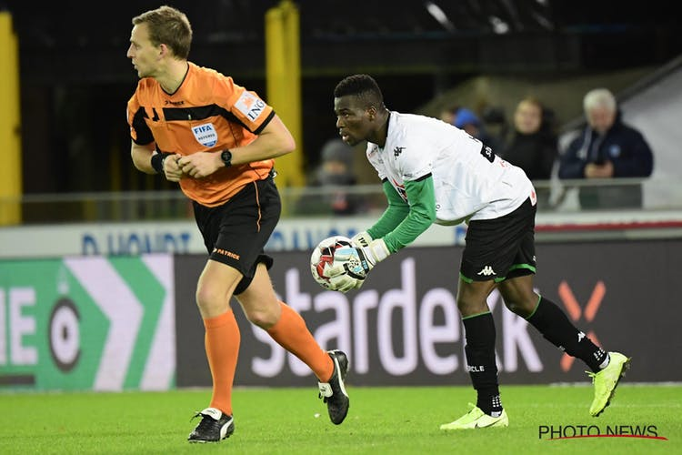Photos: Ghana midfielder Donsah forced to become goalkeeper in Belgium and excels