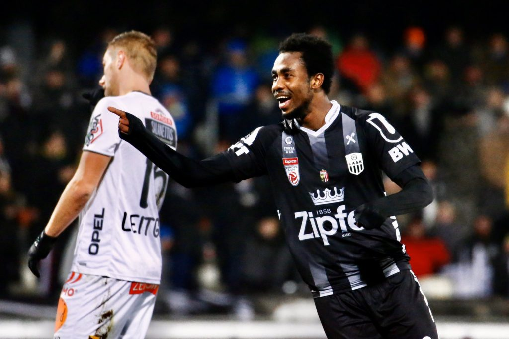 Samuel Tetteh on cloud nine after hitting fourth league goal for LASK Linz in victory against Wolfsberger