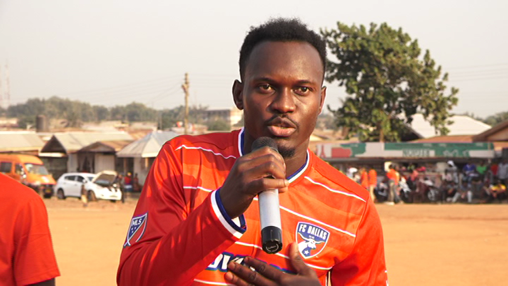 FC Dallas striker Francis Atuahene launches foundation, organizes football match in Techiman