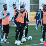 PHOTOS: Kwabena Owusu debut training session with new club Qarabag