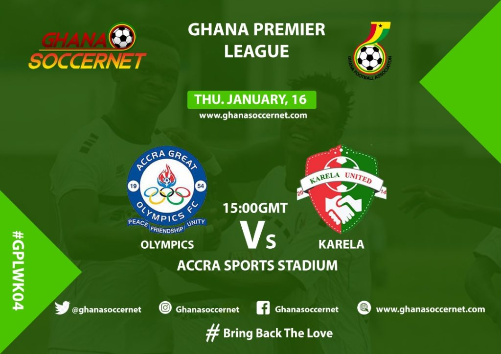 2019/20 Ghana Premier League: Week 4 Match Preview — Great Olympics v Karela United FC