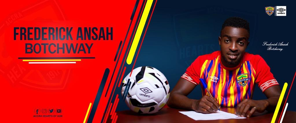 DONE DEAL: Hearts of Oak announce Frederick Ansah Botchway capture