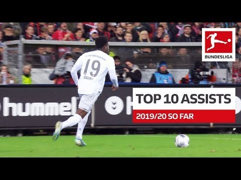 Top 10 Best Assists 2019/20 So Far – Coutinho, Sancho, Alario & More