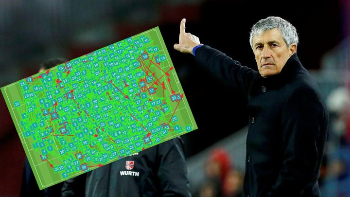 Setien has recorded Barcelona's third highest pass rate since the Guardiola era
