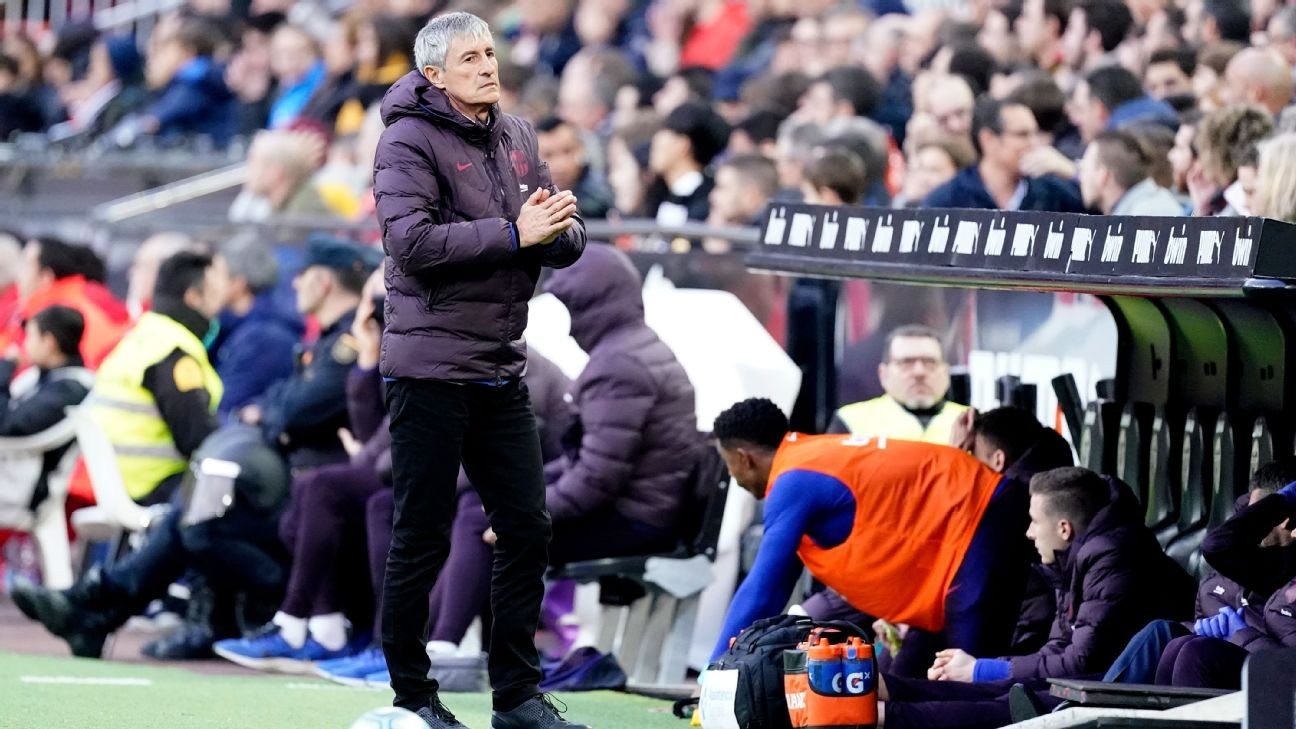 Barcelona boss Setien: Players still struggling to adapt to my style