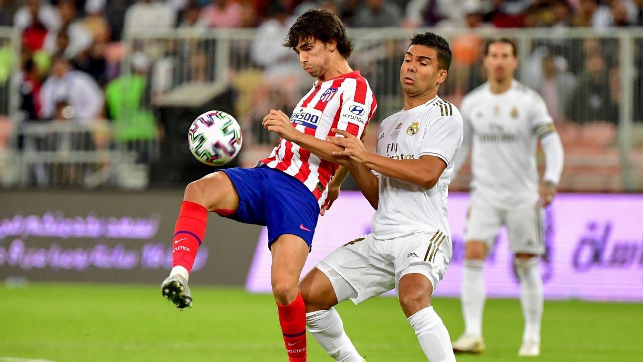 Atletico's Joao Felix set to miss Madrid derby through injury