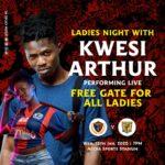 Top Ghanaian rapper Kwesi Arthur to perform at Legon Cities FC's midweek clash against Ashantigold