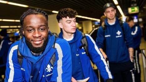 Ghana's Erich Berko displays new hair style ahead of SV Darmstadt mid-season camping in Spain