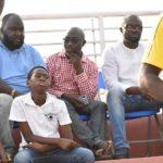 PHOTOS:Ghana FA president, FA officials  watch Women's League opener between Police Ladies vs Ladies Strikers