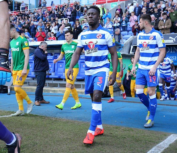 Reading defender Andy Yiadom injury doubt for Blackpool clash tonight