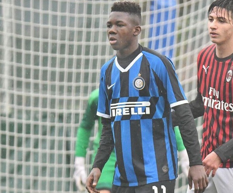Enoch Owusu scores for Inter for the third straight week in Italian U15 League