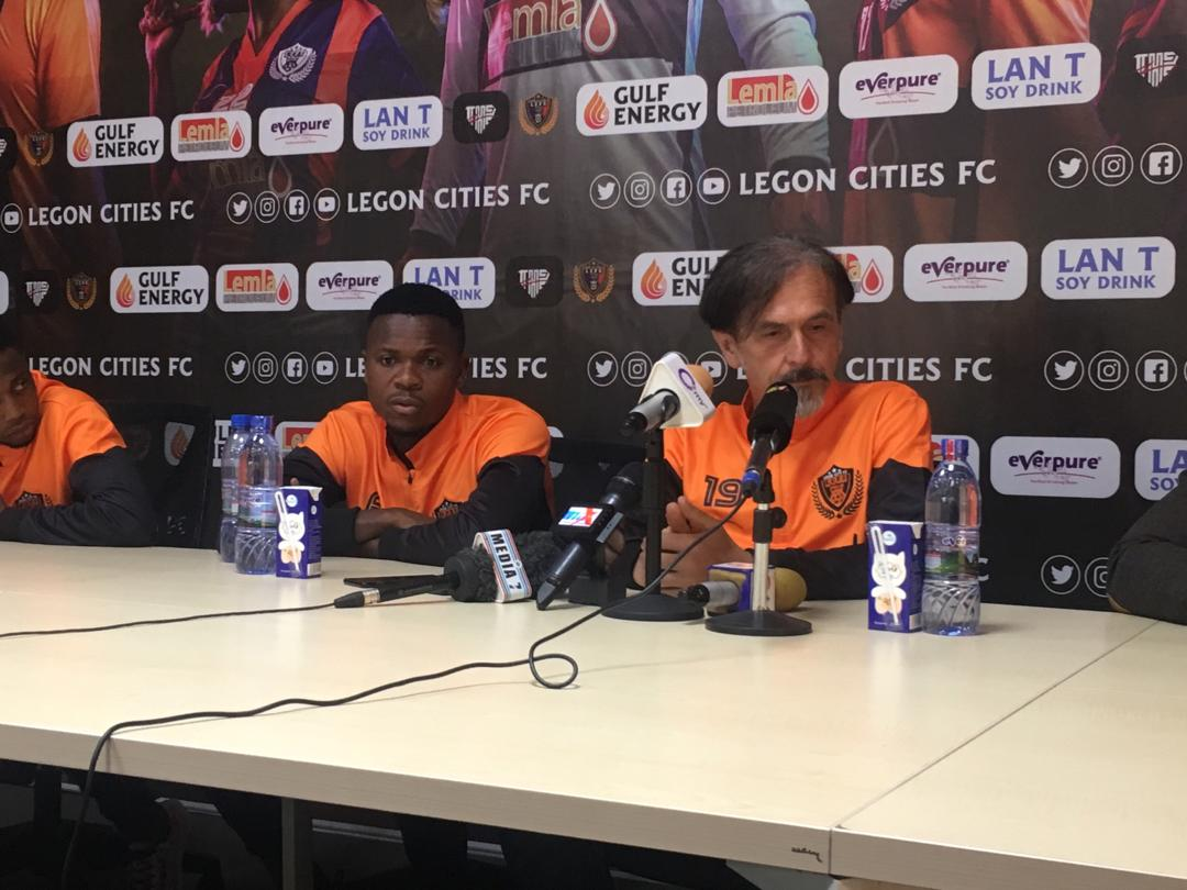 Our first target will be to breach the Ashantigold defence- Legon Cities coach Goran Barjaktarevic