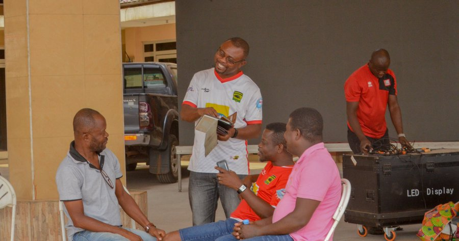 PHOTOS: NCC creates Fan Park for banned supporters to watch Kotoko-Dwarfs match on giant screen