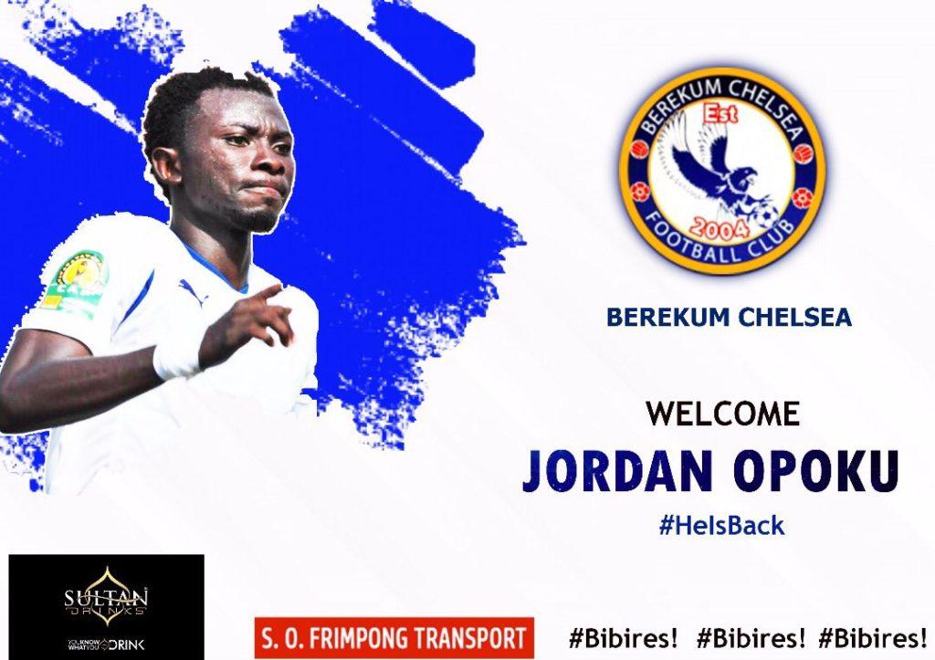 Berekum Chelsea bolster squad by re-signing midfield ace Jordan Opoku