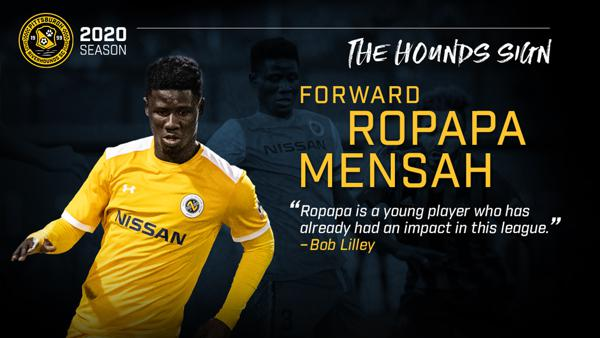 Striker Ropapa Mensah signs for USL Championship side Pittsburgh Riverhounds SC