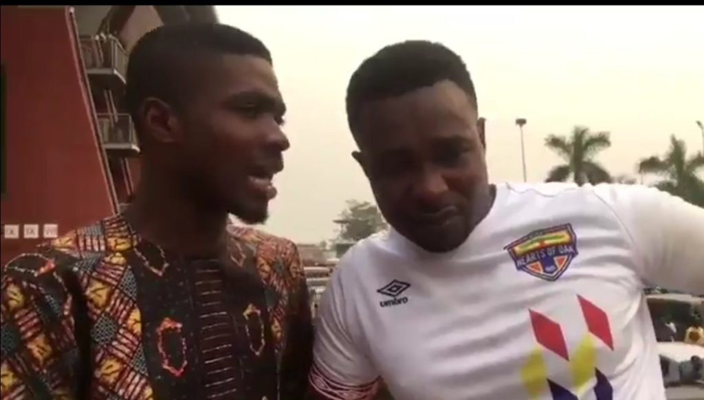 VIDEO: Hearts of Oak fan cries during interview after Asante Kotoko defeat