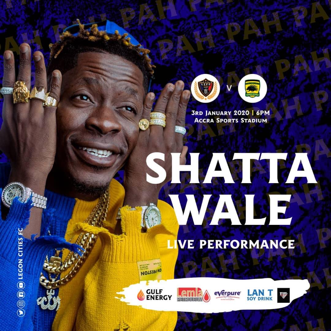 VIDEO: Watch Shatta Wale's electrifying performance in Kotoko's 3-1 win against Legon Cities FC