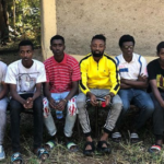 Ghanaian footballer Amos Acheampong visits orphanage in Ethiopia