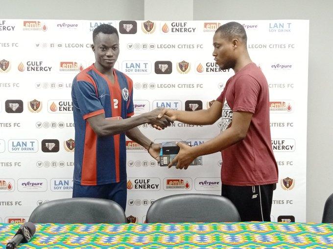Legon Cities FC star Abdul Jabila wins MoTM in victory against Bechem United
