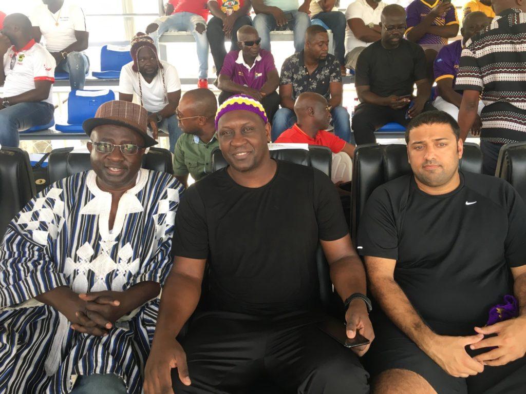 Liverpool legend Emile Heskey watches GPL game between Medeama and Kotoko