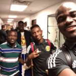 PHOTOS: Phoenix Rising captain Solomon Asante meets Columbus Crew stars Mensah & Afful