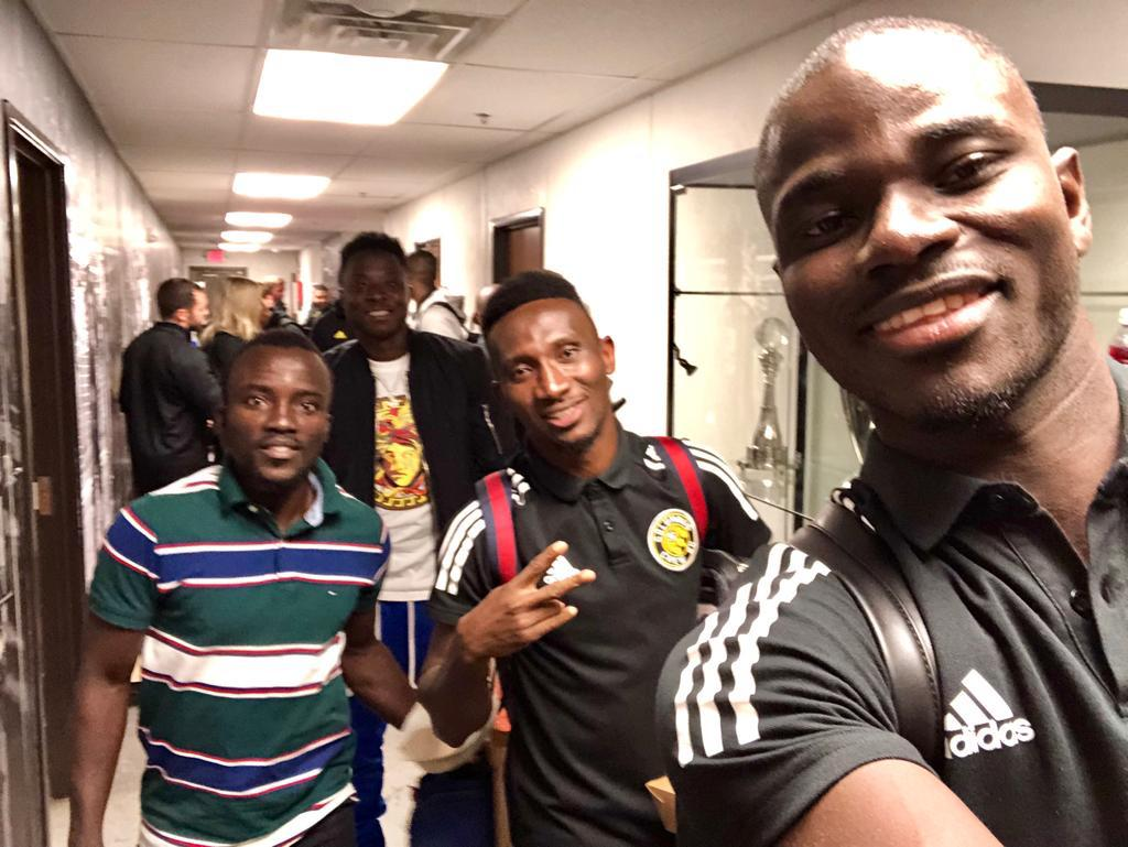 PHOTOS: Phoenix Rising captain Solomon Asante meets Columbus Crew stars Mensah & Afful
