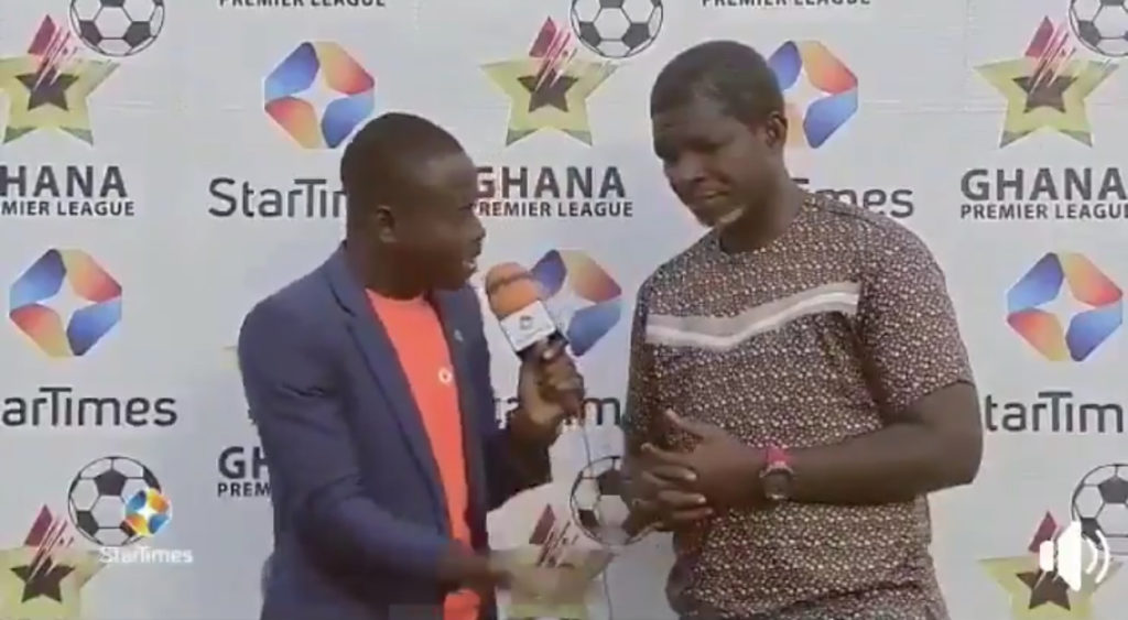 VIDEO: Maxwell Konadu reacts to why Asante Kotoko played bizarre first-half with ten-men against Aduana Stars