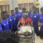 VIDEO: Physically challenged Hearts of Oak fan Ataa Abbey holds touching meeting with playing body after Bechem United victory
