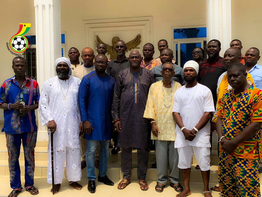 PHOTOS: GFA President Kurt Okraku leads delegation to Osu Mantse Palace