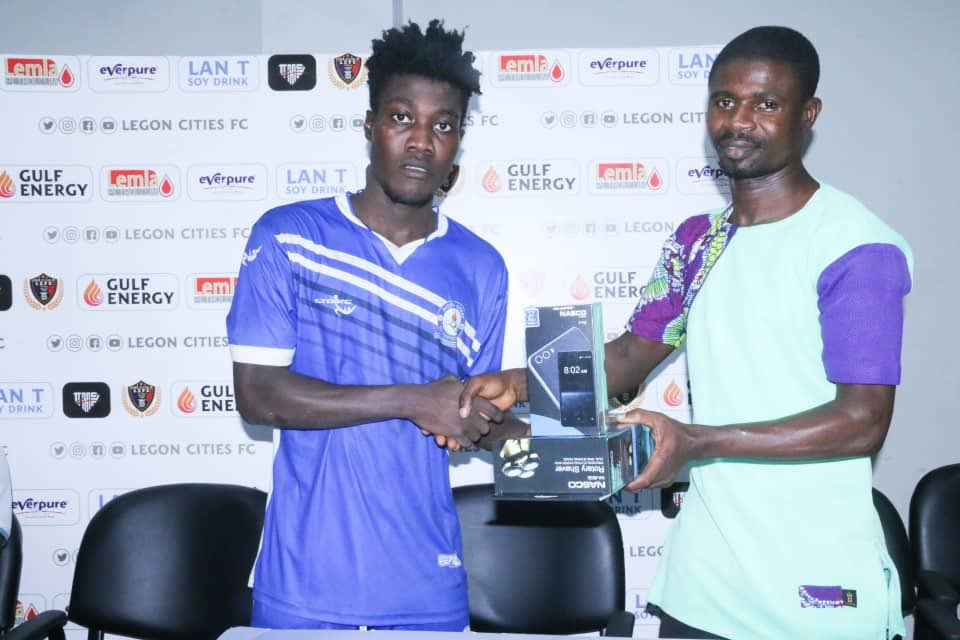 Great Olympics star Ibrahim Sulley picks MoTM award in draw with Legon Cities FC