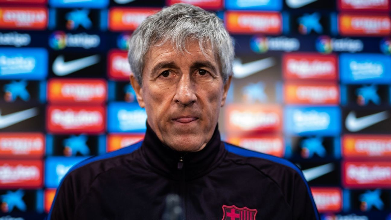 Barcelona boss Setien wants Champions League on his tombstone