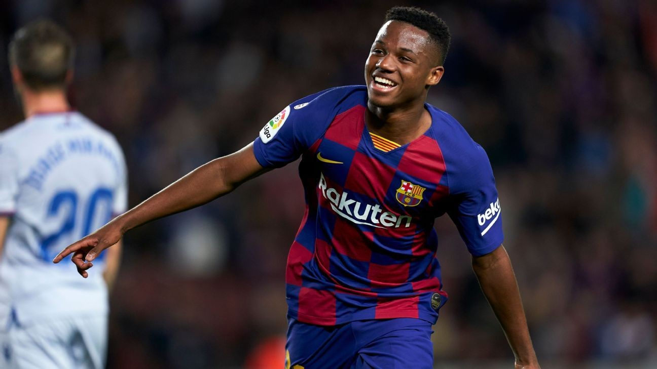 Ansu Fati back with brace as Barcelona see off Levante