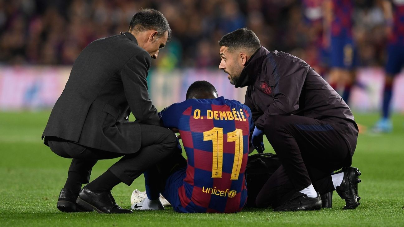 Barcelona's Ousmane Dembele suffers setback in return from injury