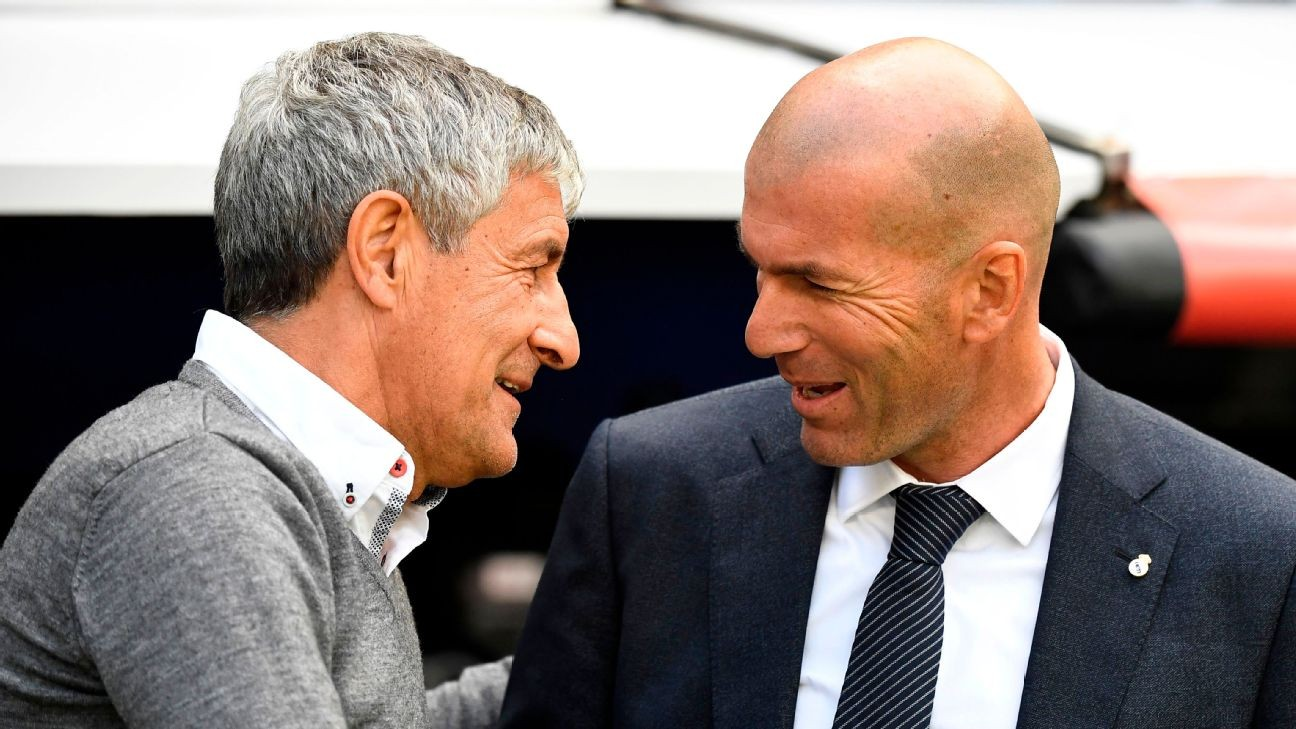In Real Madrid and Barcelona's Liga title battle, Zidane has the advantage over Setien