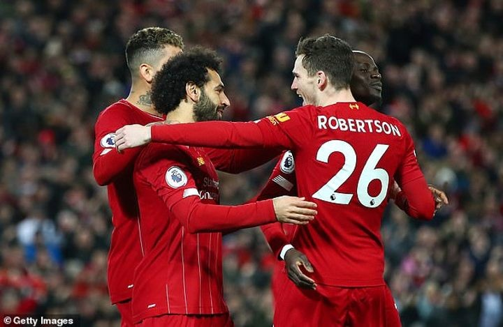 Liverpool look set to take a record TEN of the PFA Team of the Year places