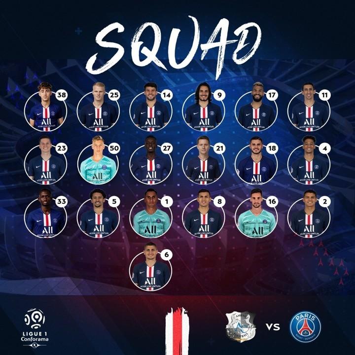 Mbappe left out of PSG squad against Amiens, Marquinhos & Thiago Silva return