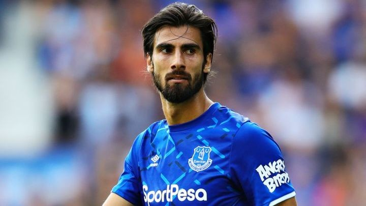 Everton midfielder Andre Gomes returns to action following serious ankle injury