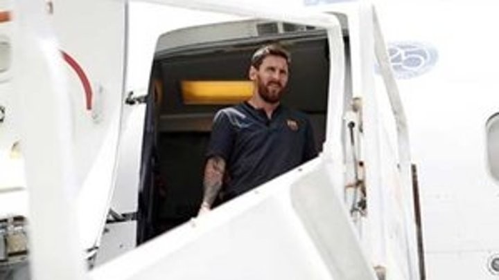 Messi takes advantage of rest days to head to Dubai in the UAE