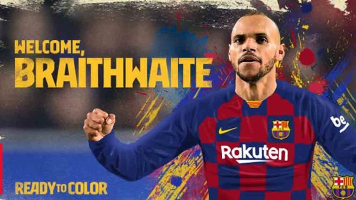 OFFICIAL: Barcelona sign Leganes' Braithwaite as Dembele's emergency replacement
