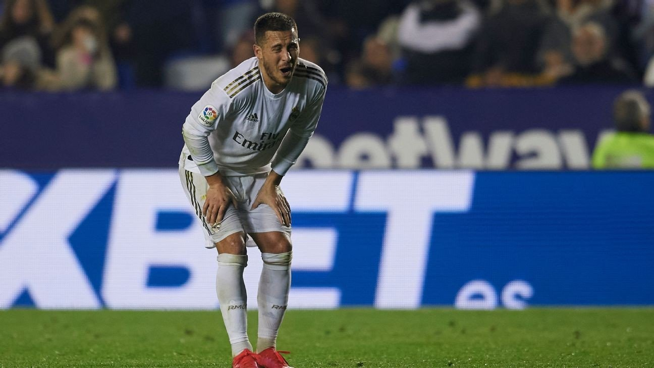Real Madrid's Hazard to miss City, Barcelona clashes with shin fracture