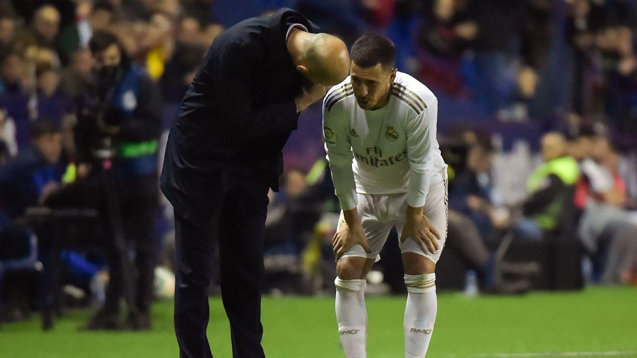 'Sad' Hazard may feature for Real Madrid this season - Martinez