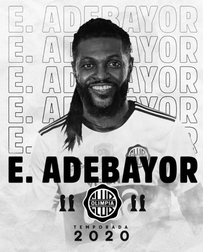 Former Manchester City forward Emmanuel Adebayor joins Paraguayan side Olimpia
