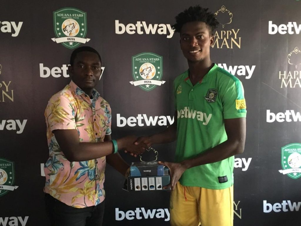 Aduana Stars defender Caleb Amankwah wins Man of the Match against Medeama SC