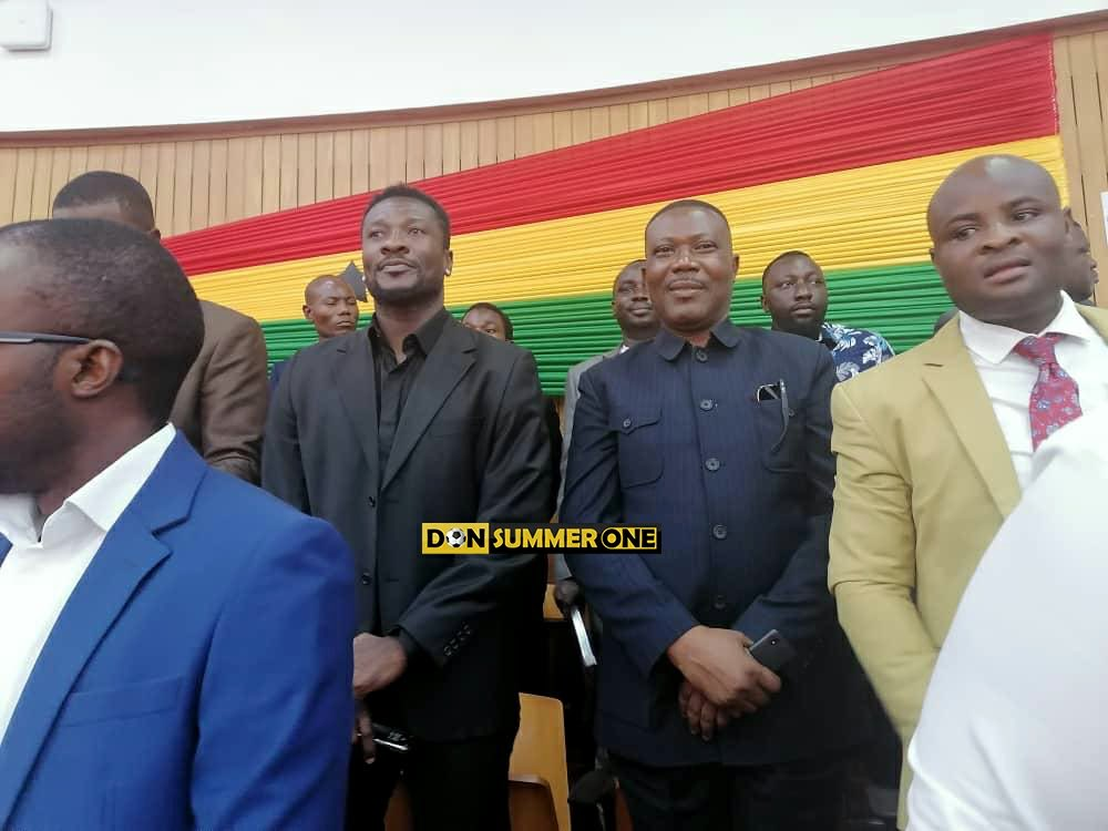 Asamoah Gyan visits Parliament during State of the Nation Address