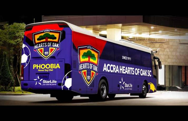 COLOURFUL Hearts of Oak new 48-seater bus causes stir on social media