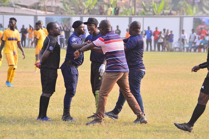 Bechem United coach Kwaku Danso facing Ghana FA rap over referee's attack, pitch invasion