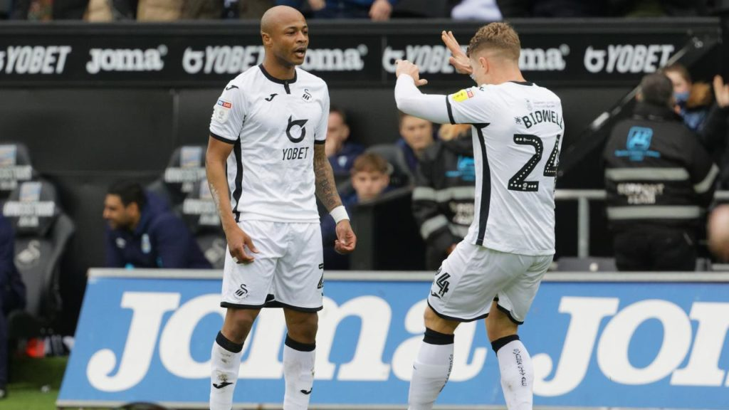 André Ayew bags ELEVENTH league goal as Swansea smash Huddersfield Town
