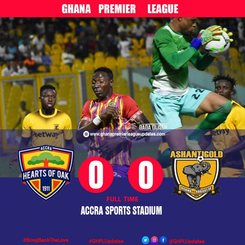 PHOTOS: Hearts of Oak share spoils with AshantiGold in Accra