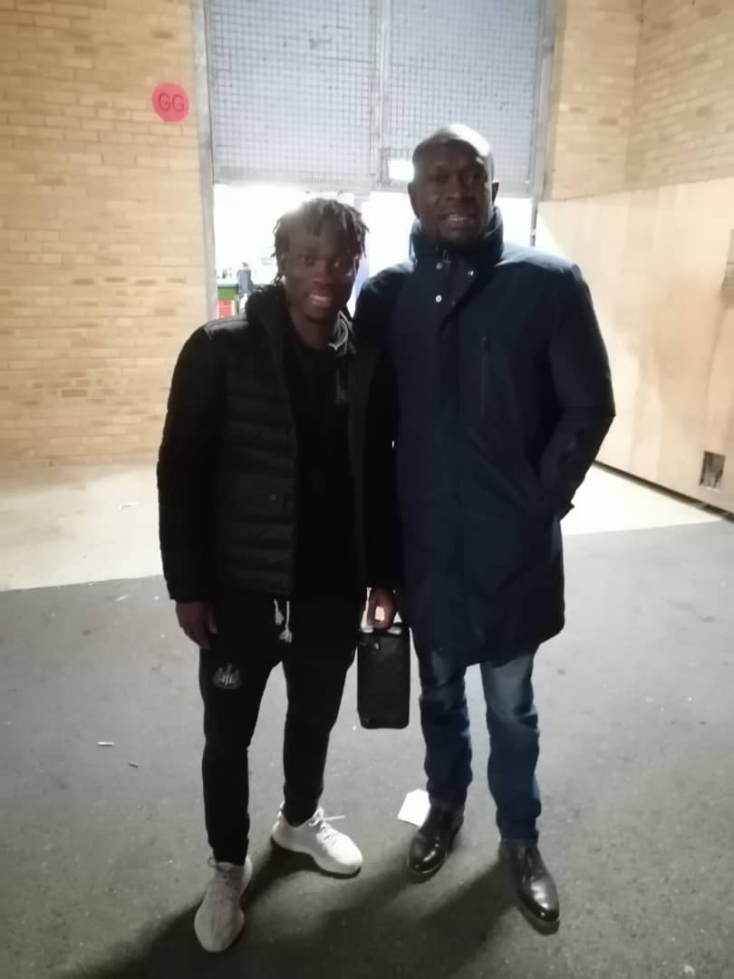 Ghana coach C.K Akonnor watches Christian Atsu as Newcastle beat Oxford United in FA Cup