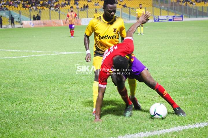Ashantigold defender Eric Donkor pleased with draw against Hearts